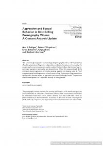 Aggression and Sexual Behavior in Best-Selling Pornography Videos: A Content Analysis Update