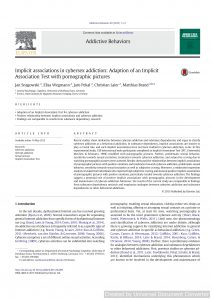 Implicit associations in cybersex addiction