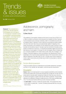 Adolescence, pornography and harm