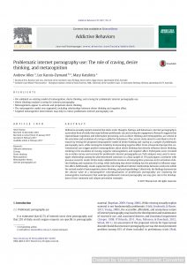 Problematic internet pornography use: The role of craving, desire thinking, and metacognition