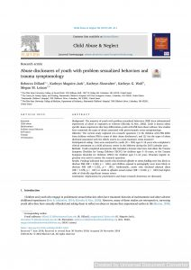 Abuse disclosures of youth with problem sexualized behaviors and trauma symptomology