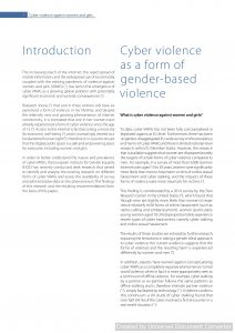 Cyber violence against women and girls