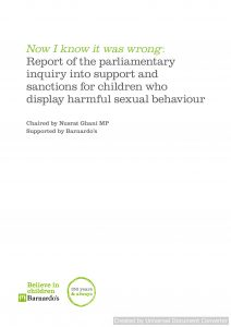 Now I know it was wrong: Report of the parliamentary inquiry into support and sanctions for children who display harmful sexual behaviour