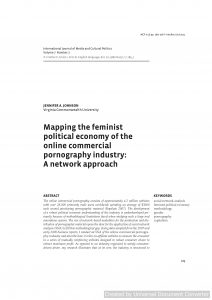 Mapping the feminist political economy of the online commercial pornography industry: A network approach