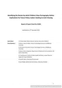 Identifying the routes by which children view pornography online: implications for future policy-makers seeking to limit viewing