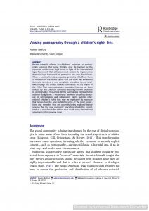 Viewing pornography through a children's rights lens