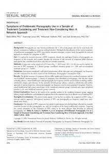Symptoms of Problematic Pornography Use in a Sample of Treatment Considering and Treatment Non-Considering Men: A Network Approach