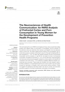 The Neurosciences of Health Communication: An fNIRS Analysis of Prefrontal Cortex and Porn Consumption in Young Women for the Development of Prevention Health Programs
