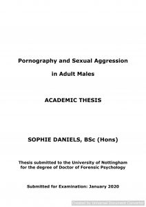 Pornography and sexual aggression in adult males