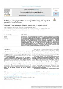 Profiling of pornography addiction among children using EEG signals: A systematic literature review