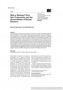 Risk or Release?: Porn Use Trajectories and the Accumulation of Sexual Partners