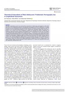 Theoretical Antecedents of Male Adolescents' Problematic Pornography Use: A Longitudinal Assessment