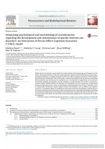 Integrating psychological and neurobiological considerations regarding the development and maintenance of specific Internet-use disorders: An Interaction of Person-Affect-Cognition-Execution (I-PACE) model