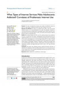 What Types of Internet Services Make Adolescents Addicted?