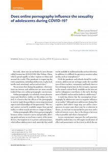Does online pornography influence the sexuality of adolescents during COVID-19?