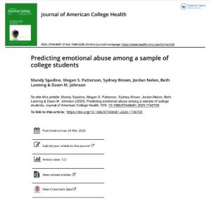 Predicting emotional abuse among a sample of college students