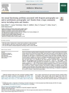 Are sexual functioning problems associated with frequent pornography use and/or problematic pornography use? Results from a large community survey including males and females