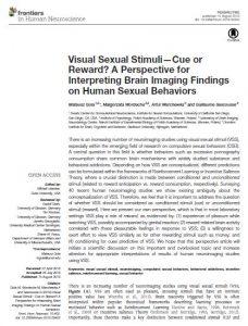 Visual Sexual Stimuli—Cue or Reward? A Perspective for Interpreting Brain Imaging Findings on Human Sexual Behaviors