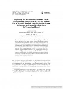 Exploring the Relationship Between Erotic Disruption During the Latency Period and the Use of Sexually Explicit Material, Online Sexual Behaviors, and Sexual Dysfunctions in Young Adulthood