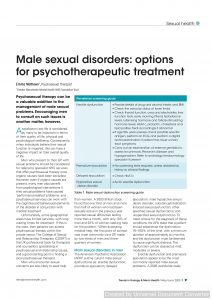 Male sexual disorders: options for psychotherapeutic treatment