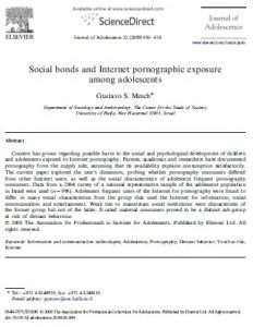Social bonds and Internet pornographic exposure among adolescents