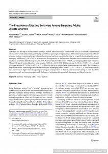 The Prevalence of Sexting Behaviors Among Emerging Adults: A Meta-Analysis