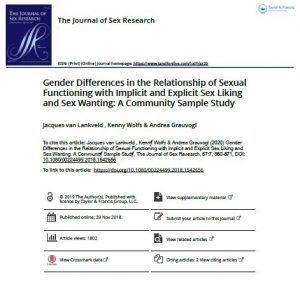 Gender Differences in the Relationship of Sexual Functioning with Implicit and Explicit Sex Liking and Sex Wanting: A Community Sample Study